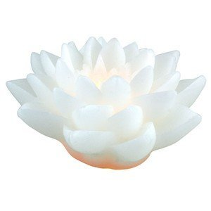 White Lotus LED Wax Candle by World Buyers