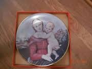 (CH Field Haviland Limoges Cowper Madonna & Child 1974 Collector Plate )