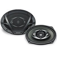 Pair of New Kenwood Kfc-6983ps 900 Watts Combined (450 Each) Powerful Four-way Car Audio Speakers with Sound Image Enhancer - Land Cruiser Toyota Diamond