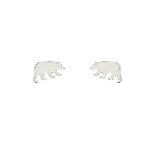 Diane Lo'ren Children's .925 Sterling Silver Stud Earrings - Earrings Bear
