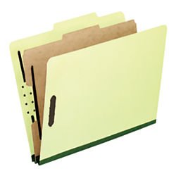 Pendaflex Pressboard Classification Folders, Lgl, 4-Section, Lt Green, 10 per Box (2157G)