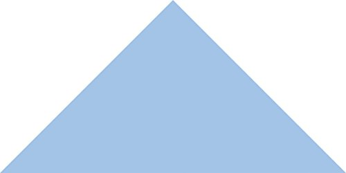 Powder Blue Large Triangle Wall Pattern - Set of 48 - Pattern Vinyl Wall Art Decal for Homes, Offices, Kids Rooms, Nurseries, Schools, High Schools, Colleges, Universities by Dana Decals (Image #2)