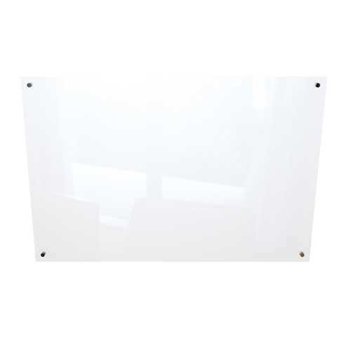 Best-Rite Enlighten Glass Dry Erase Whiteboard, Gloss White 1/8 inch Tempered Glass, 4 x 6 Feet (83941) by Best-Rite