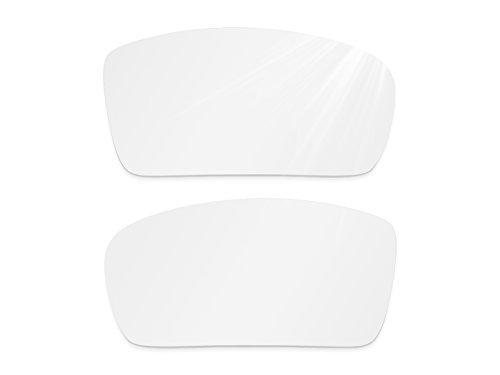 Glintbay Harden Coated Replacement Lenses for Oakley Gascan Sunglasses - Crystal Clear - White Off Small Sunglasses