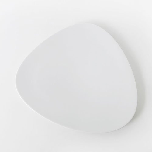 Alessi Colombina 14-1/4-Inch by 13-Inch Flat Dish, White Porcelain