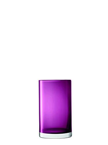 LSA International Flower Colour Cylinder Vase/Lantern H10in, Heather - 923 Heather