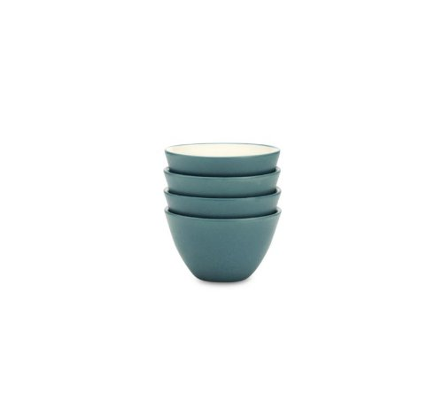 Noritake 4-Inch Colorwave Bowl, Mini, Turquoise Blue, Set of 4 ()