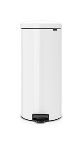 Brabantia Step Trash Can newIcon with Plastic Inner Bucket, 8 Gal. - White