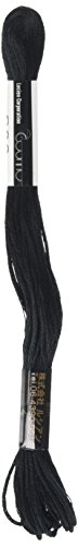 Lecien Japan 2512-600 Cosmo Cotton Embroidery Floss, 8m, Skein Black - $4.90