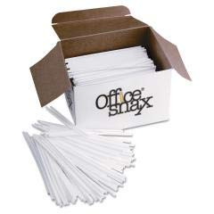 Plastic Stir Sticks, 5'', Plastic, White, 1000/box
