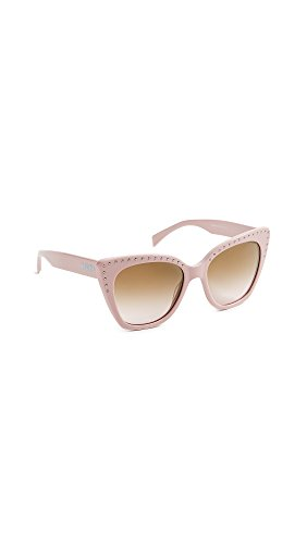 Moschino Women's Slight Cat Eye Sunglasses, Pink/Brown Gradient, One - Cat Sunglasses Eye Slight
