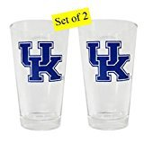 Kentucky Wildcats 16 Ounce Beverage Glass with Logo Box Set of ()