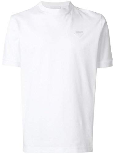 (Prada Men's Ujn452xgsf0009 White Cotton T-Shirt)