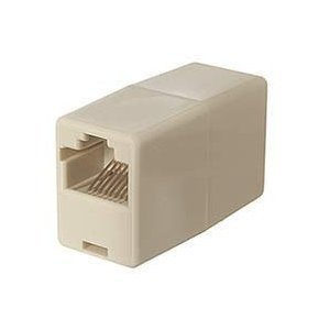 CAT5E RJ45 8-pin Modular Inline Coupler Straight-Through (Ivory) F-F Straight (Cat5e Modular Coupler)