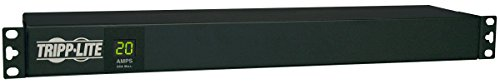 Tripp Lite Metered PDU, 20A, 12 Outlets (5-15/20R), 120V, L5-20P / 5-20P, 110-127V Input, 15 ft. Cord, 1U Rack-Mount Power (PDUMH20) ()