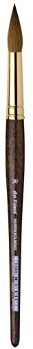 da Vinci Watercolor Series 1526Y Paint Brush, Round Harbin Kolinsky Red Sable with Black Handle, Size 20 by da Vinci Brushes