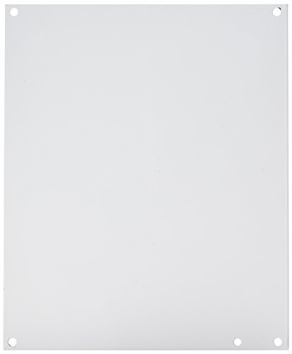 "Hoffman A12P10 Conductive Panels for JIC Enclosure, Steel/Aluminum, J Box/10.75"" x 8.88"", Fits 12"" x 10"", White"