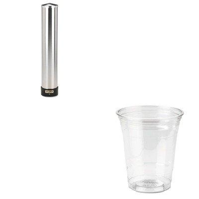 KITDXECP12DXSJMC3400P - Value Kit - Dixie Clear Plastic PETE Cups (DXECP12DX) and San Jamar Large Water Cup Dispenser w/Removable Cap (SJMC3400P) by Dixie