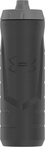 Under Armour Sideline 32 Ounce Squeezable Bottle, Black ()