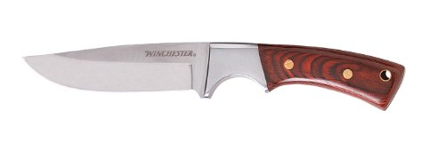 Winchester 22-41340 Small Wood Handle Fixed Blade with Nylon Sheath, Outdoor Stuffs
