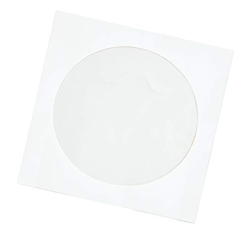 - Quality Park Tech-No-Tear CD Sleeve, White, 4.875 inches x 5 inches, 100 Sleeves (77203)