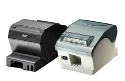 Star Micronics 39442210 Model TSP743IIC-24 GRY Thermal Printer, Friction, Cutter, Parallel, Without Power Supply, - 24 Thermal Printer Cutter