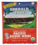 #6: Emerald Cove Organic Pacific Sushi Nori, 10 ct