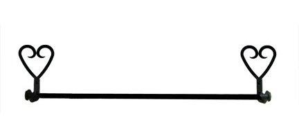 TB-51-S Heart Towel Bar Small Rod Length 18 Inch