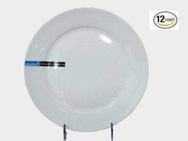 1 Dz Super White Rolled Edge Round Porcelain Plates (5