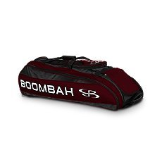 Boombah Beast Baseball / Softball Bat Bag - 40'' x 14'' x 13'' - Black/Maroon - Holds 8 Bats, Glove & Shoe Compartments by Boombah (Image #2)