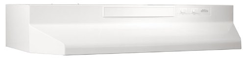 Broan 433011 ADA Capable 4-Way Convertible Under-Cabinet Range Hood, 30-Inch, White