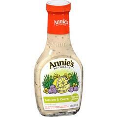 Annie's Homegrown - Dairy Free Lemon & Chives Dressing (6-8 oz bottles) - Perfect Addition to Green and Roasted Potato Salads, and a Flavorful Marinade for Fish, Chicken, and Tempeh