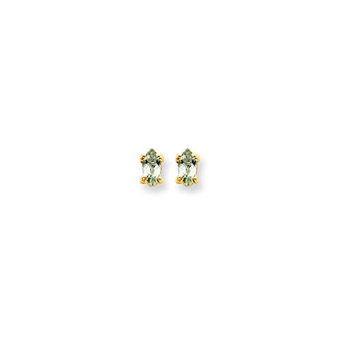 Perfect Jewelry Gift 14k 5x2.5 Marquise Green Quartz Earring