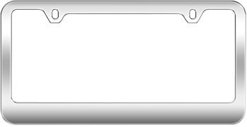 chrome blank license plate frame made of metal - Metal License Plate Frames