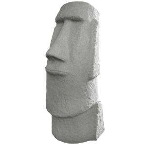 EASTER ISLAND LAWN & GARDEN PATIO OUTDOOR HEAD STATUE GRANITE RESIN 27
