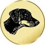 S.B.J Durchmesser 50 mm Durchmesser Motiv Dobermann Sportland Pokal//Medaille Emblem
