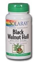 Black Walnut Hull 500mg Solaray 100 Caps (500 Mg Capsules 100 Hull)