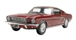1968 Mustang Gt 1/25 Scale Plastic Glue And Paint Model Car Kit