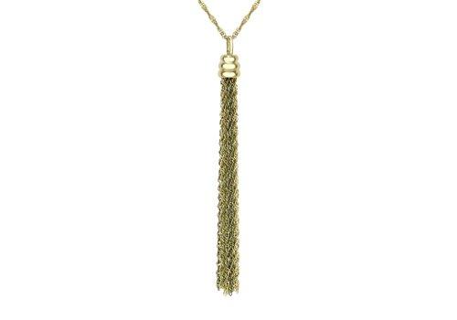 9ct or 2couleurs et drapé effet twist-Collier Femme-Chaîne 43cm/17'