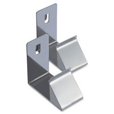 Lorell Cubicle Partition Hanger Set - for Garment, Bag - Metal - Silver - 2 / Set by Lorell