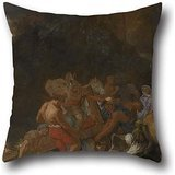 Oil Painting Charles Le Brun - The Road To Calvary Cushion Cases 20 X 20 Inches / 50 By 50 Cm Best Choice For Boy Friend,chair,bar Seat,saloon,gf,kids Room With Each Side
