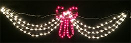 Outdoor Lighted Christmas Swag And Bow