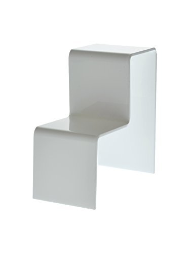 Marketing Holders White Acrylic 2 Tier Counter Top Riser Stand Jewelry Stand (pack of 24) by Marketing Holders (Image #1)