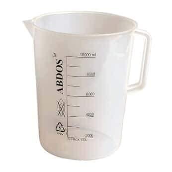 Image of Beakers Abdos P50807 Large Capacity Beaker with Handle, PP, 5L, 2 Pack