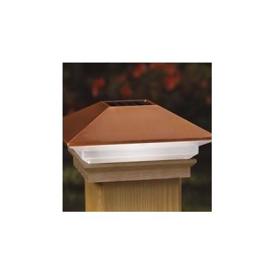 """Deckorators Copper High Point Solar Post Cap, 3 5/8"""" Cedar (Deckorators DB142433)"""