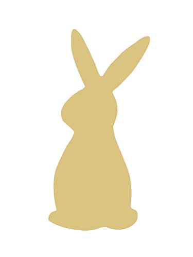 Rabbit Cutout Unfinished Wood Animal Cut out Nursery/Kids Decor/Spring Door Hanger MDF Shape Canvas Style 1