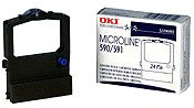 OKI Matrix Nylon Printer Ribbon,w/Reinker, (591 Nylon Printer Ribbon)