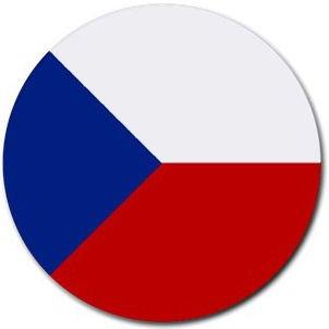 Czech Republic Flag Round Mouse Pad
