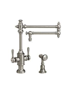 1ap Antique - Waterstone 8010-18-1-AP Two Handle Kitchen Faucet 18