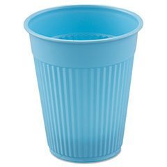 Plastic Medical and Dental Cups in Sky Blue